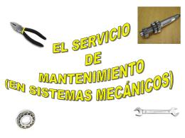 EL SERVICIO DE MANTENIMIENTO