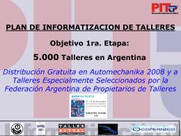 PIT TP PAN DE INFORMATIZACION DE TALLERES