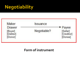 Negotiability - professorbeyer.com