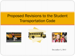 Revised Transportation Code