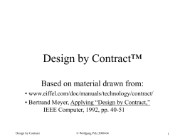 Design by Contract™