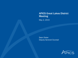 APICS North American Chapter Agreement