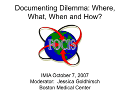 Documenting Dilemma: Where, What, When and How?