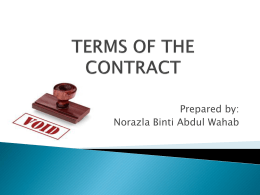 CHAPTER 7 Unlawful and Void Contracts