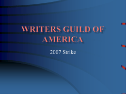 Writers Guild of America - Illinois Valley Community College