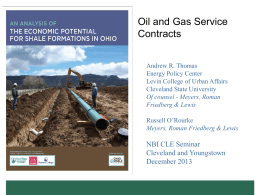 The Economic Potential for Shale Formations in Ohio