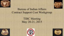 Bureau of Indian Affairs Contract Support Cost …