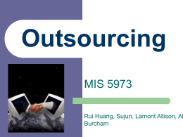 Outsourcing - The University of Oklahoma