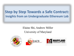 Step by Step Towards a Safe Contract: Insights from an