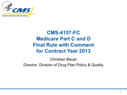CMS-4157-FCMedicare Part C and D Final Rule with …