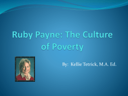 Ruby Payne Training - West Virginia Department of …