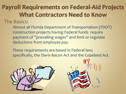 Payroll Requirements on Federal