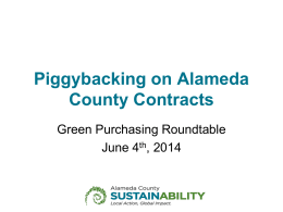 Piggybacking on Alameda County Contracts
