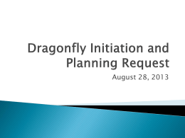 Dragonfly Initiation and Planning Request