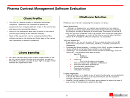 Proposal for providing Contract IT Consulting Services