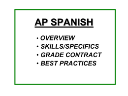 AP SPANISH - ESL CONNECT