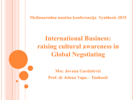 International Business: raising cultural awareness in