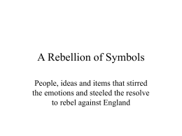 A Rebellion of Symbols