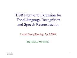 Front-end extension for tonal-language recognition and