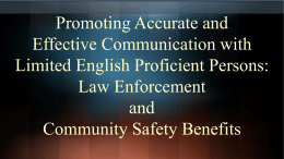 Promoting Accurate and Effective Communication with