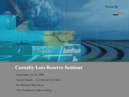 CAGNY Meeting - Casualty Actuarial Society