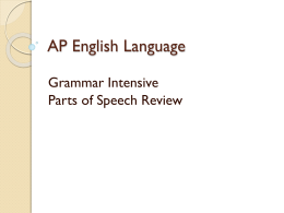 AP English Language - Aurora High School