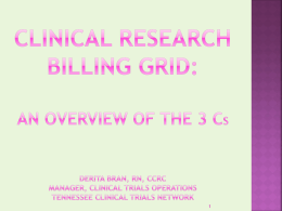 Billing Grid - University of Tennessee Health Science …