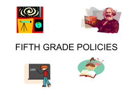 Fifth Grade Policy