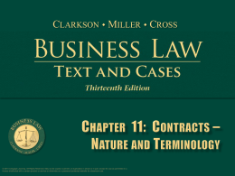 Clarkson, Business Law 13th