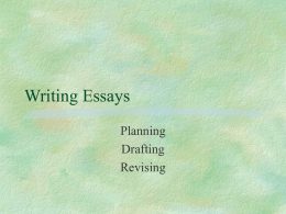 Writing Essays - Dixie State University