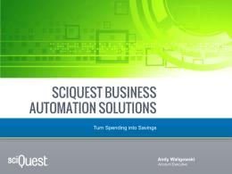 SciQuest Sales Presentation