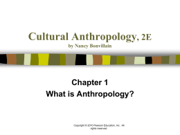 Cultural Anthropology by Nancy Bonvillain