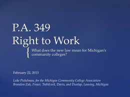 Freedom to Work - Michigan Community College …