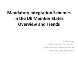 Mandatory Integration Schemes in the UE Member States