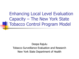 Enhancing Local Level Evaluation Capacity – The New …