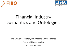 Financial Industry Business Ontologies