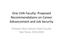 "Proposed ""One UVA Faculty"" Approach/Guidelines"