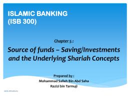 ISLAMIC BANKING (ISB 300) - Universiti Teknologi MARA