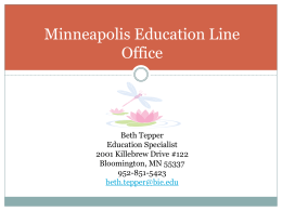 Minneapolis Education Line Office