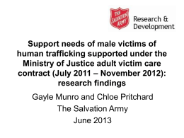 Support Needs of Male Victims of Human Trafficking