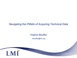 Tech Data Packages Best Practices in Acquisition