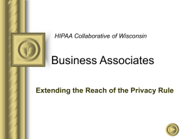 HIPAA and Business Associates