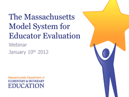 Educator Evaluation ESE Model System