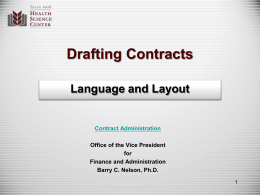 Policies and Regulations on Contracts
