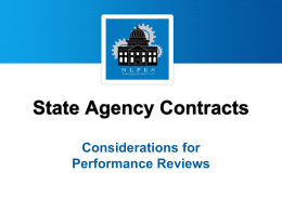 Contract Management - National Conference of State