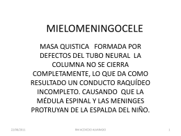 MIELOMENINGOCELE