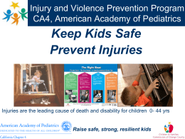 PowerPoint Presentation - Injury and Violence Prevention