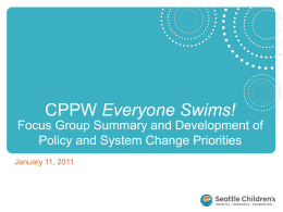 Everyone Swims Focus Group Summary and Priority Policy