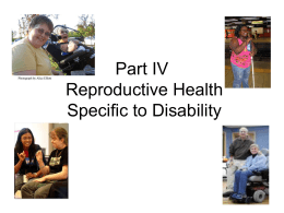 Part IV Issues Specific to Disability
