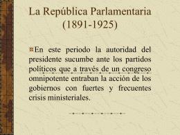 La Republica Parlamentaria (1891
